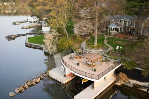 Aerial with Boathouse 1632 St. Lawrence